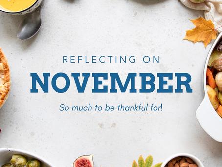 Reflecting On November 2019