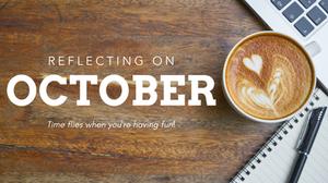 "Coffee flatlay ""Reflecting on October"""