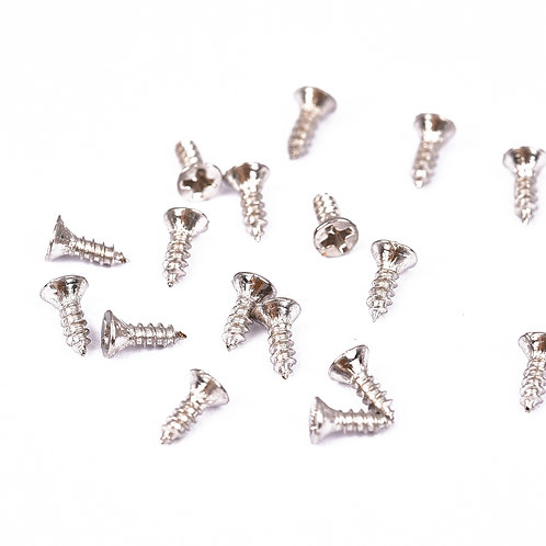 4927-P Parafuso de Ferro Prata 2 mm x 6 mm - Pacote c/ 20g