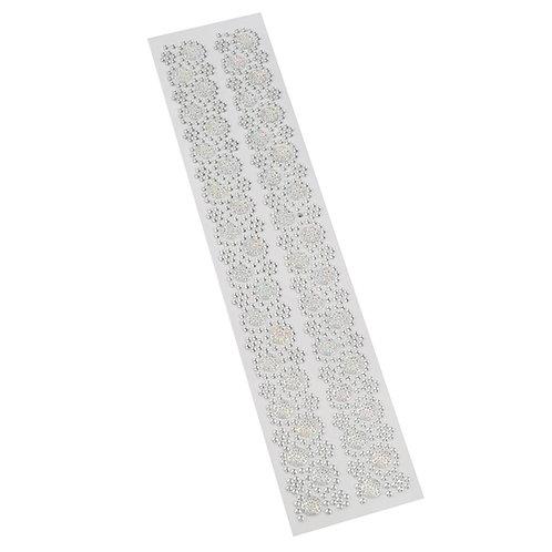 Cartela de Strass Adesivos 27,5 cm x 5 cm - 5071