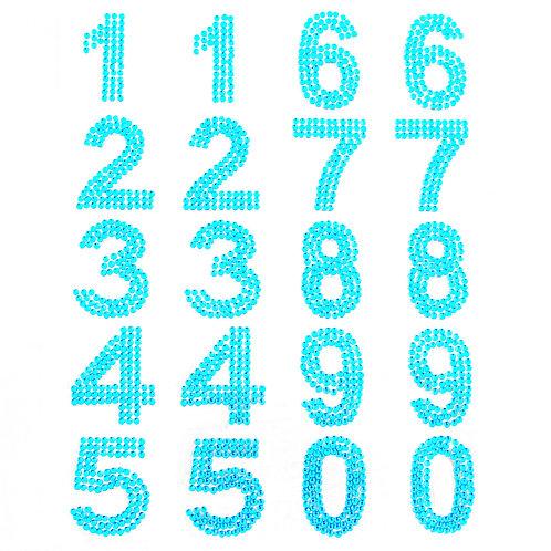 Cartela de Números Strass Adesivos 35mm (6726-009)