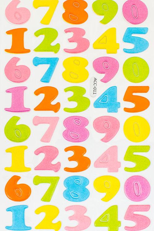 Adesivos Acolchoados Números 20mm (3226-004)