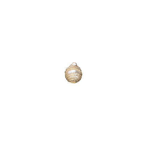 Kit com 4 Pingentes Dourados com Pérola (6779)