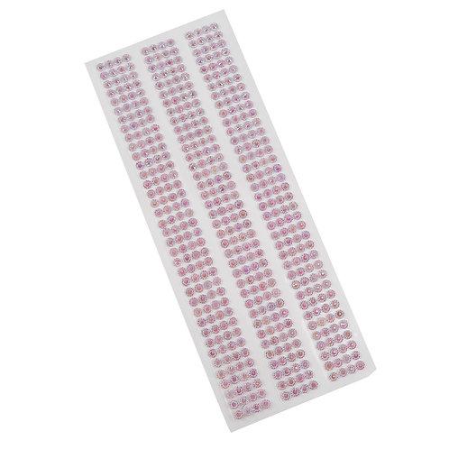 Cartela de Strass Adesivos 20,5 cm x 7 cm - 5059