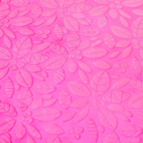 3352 Papel Velutto Folhas e Frutos - Pink