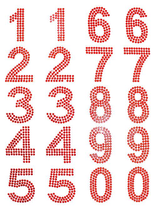 Cartela de Números Strass Adesivos 35mm (6726-005)