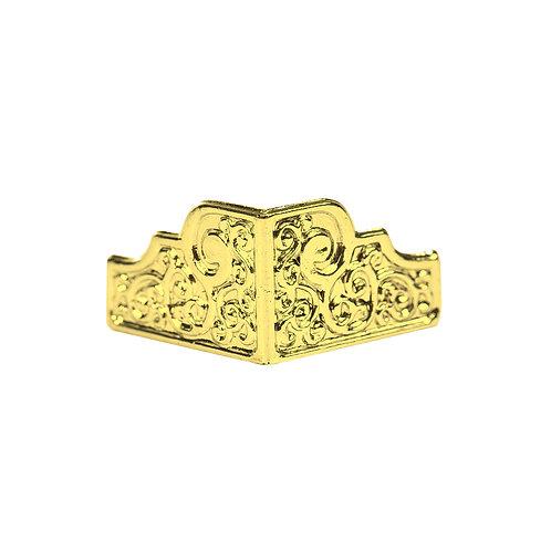 5083 Pezinho de Plástico Ouro 2,2 cm x 2 cm - Pacote c/ 4 peças