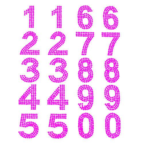 Cartela de Números Strass Adesivos 35mm (6726-007)
