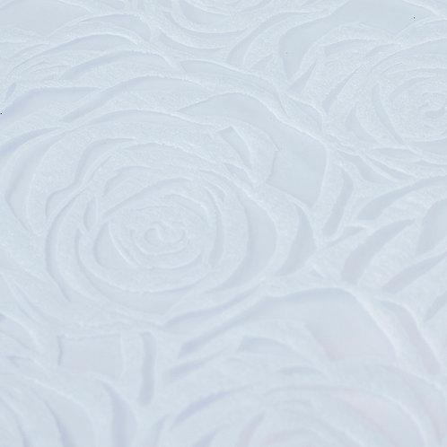 3359 Papel Velutto Rosas G - Branco