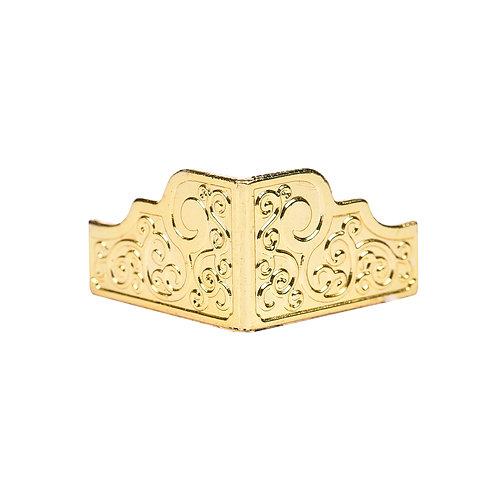 5090 Pezinho de Plástico Ouro 3,3 cm x 1,9 cm - Pacote c/ 4 peças