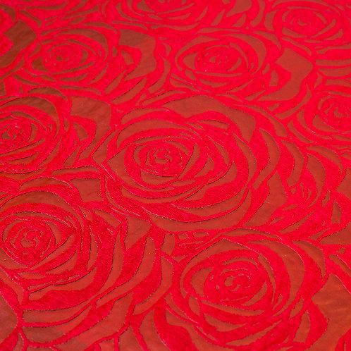 3360 Papel Velutto Rosas G - Bordô