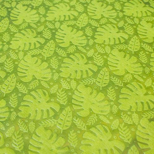 3357 Papel Velutto Folhas - Verde