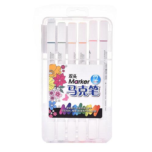 5034 Estojo de Canetas para Tecido c/ 12 cores