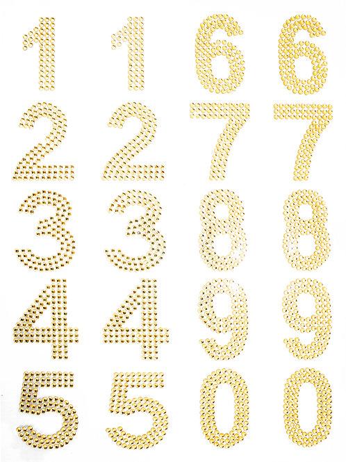 Cartela de Números Strass Adesivos 35mm (6726-001)