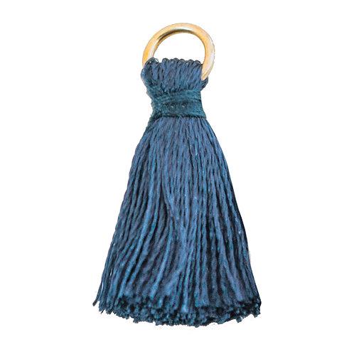 Kit com 20 Pingentes Azul Petróleo 18mm (6754)