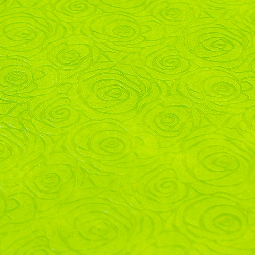 3340 Papel Velutto Rosas P - Verde