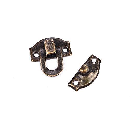 5097 Fecho Pressão Bronze 2,2 cm x 2,2 cm - Pacote c/ 4 peças