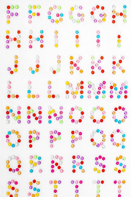 Cartela de Alfabeto Strass Adesivos (6725-005)