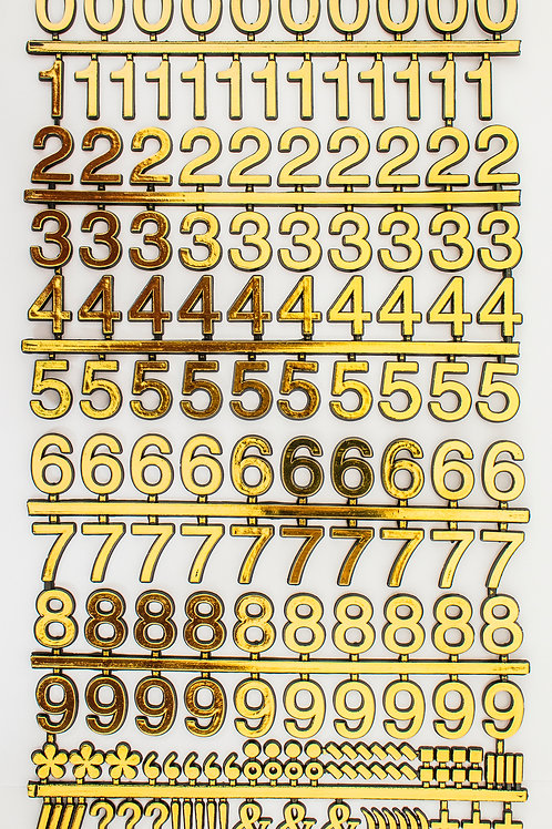 Adesivo Números Dourados 25mm (6715)
