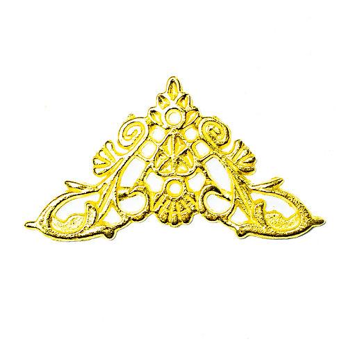 5098 Cantoneira de Ferro Ouro 3,3 cm x 4,3 cm - Pacote c/ 4 peças