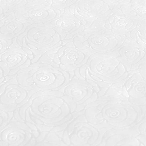 3338 Papel Velutto Rosas P - Branco