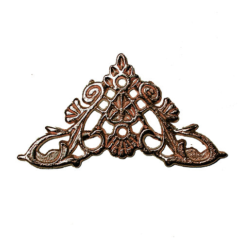 5100 Cantoneira de Ferro Bronze 3,3 cm x 4,3 cm - Pacote c/ 4 peças