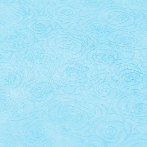 3339 Papel Velutto Rosas P - Azul