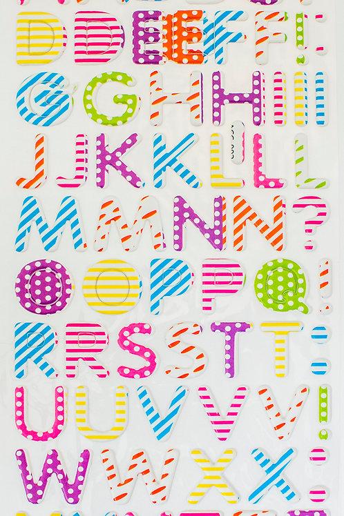 Adesivos Acolchoados Letras 20mm (3226-007)