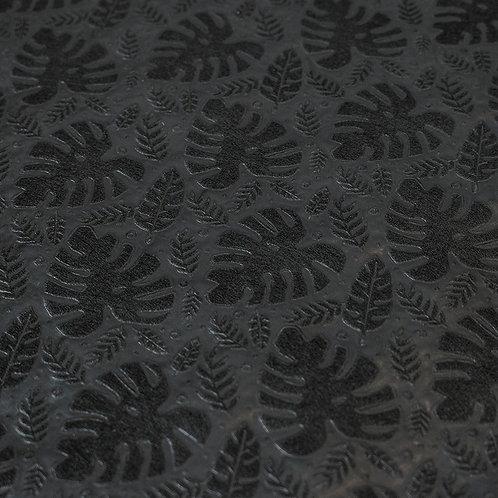 3358 Papel Velutto Folhas - Preto