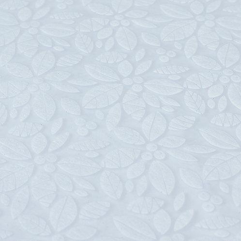 3351 Papel Velutto Folhas e Frutos - Branco