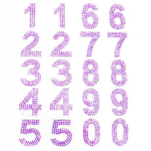 Cartela de Números Strass Adesivos 35mm (6726-008)