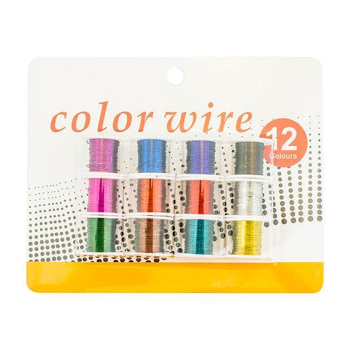 3366 Kit com 12 arames coloridos (3m cada)