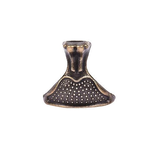 Pezinho de Liga de Zinco Bronze 2,5 cm x 8 cm - Pacote c/ 4 peças