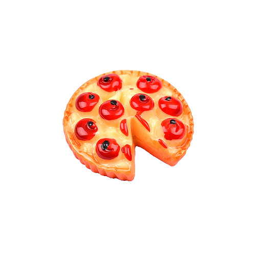 4952 Miniatura de Resina Pizza - Pacote c/ 6 un.