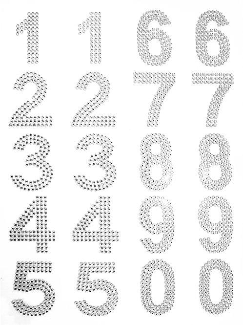 Cartela de Números Strass Adesivos (6726-002)