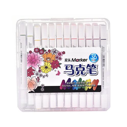 5038 Estojo de Canetas para Tecido c/ 48 cores