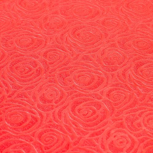 3344 Papel Velutto Rosas P - Vermelho