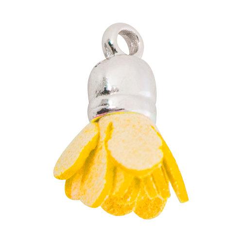 Kit com 10 Pingentes Amarelo 17mm (6760-20)