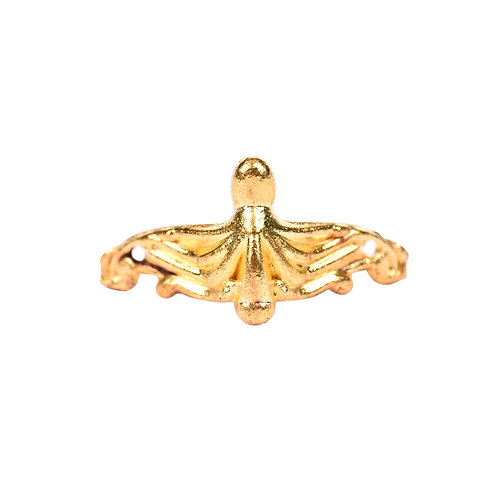 5093 Pezinho de Liga de Zinco Ouro - Pacote c/ 4 peças