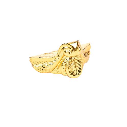 5087 Pezinho de Plástico Ouro 2,2 cm x 2 cm - Pacote c/ 4 peças