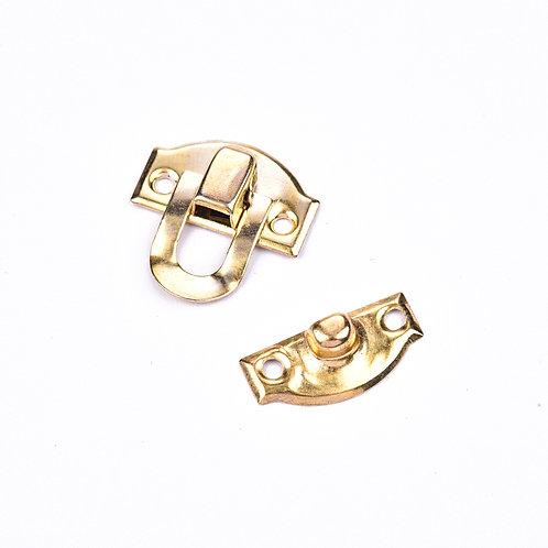 5095 Fecho Pressão Ouro 2,2 cm x 2,2 cm - Pacote c/ 4 peças