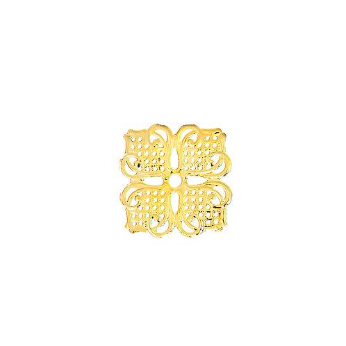 6771 Aplique de Metal Dourado 8 un.
