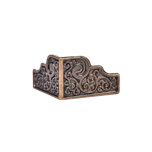 5085 Pezinho de Plástico Bronze 2,2 cm x 2 cm - Pacote c/ 4 peças