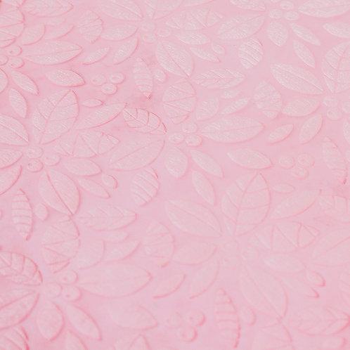 3353 Papel Velutto Folhas e Frutos - Rosa