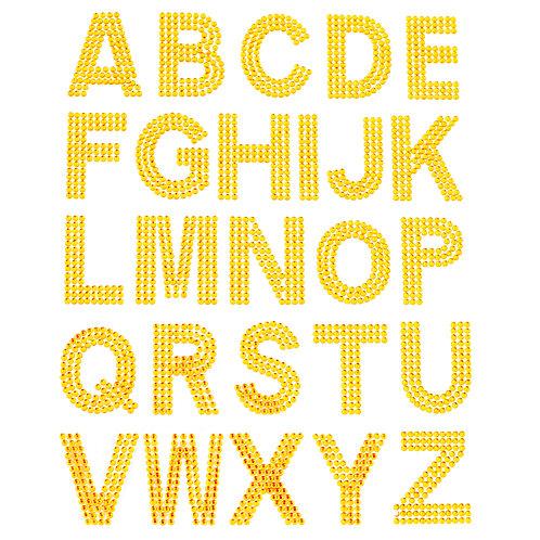 Cartela de Alfabeto Strass Adesivos 35mm (6726-010)