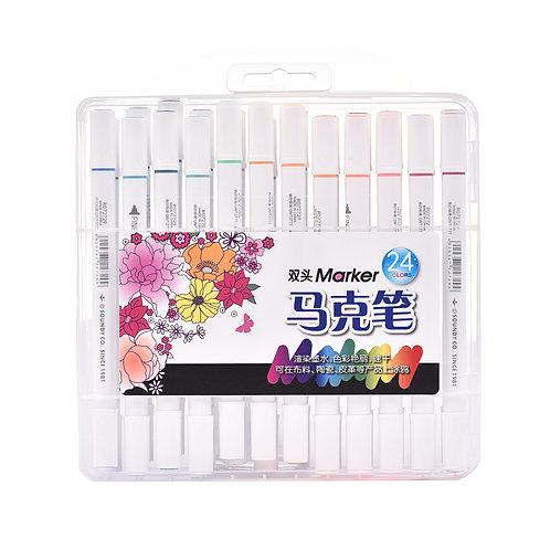 5035 Estojo de Canetas para Tecido c/ 24 cores