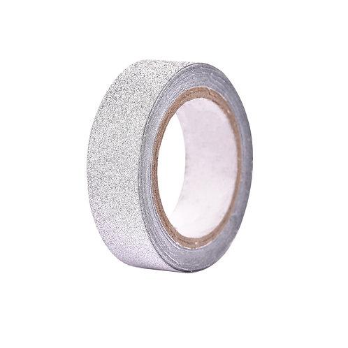 4830 Fita Adesiva 1,5 cm x 4 m Prata - 2 rolos