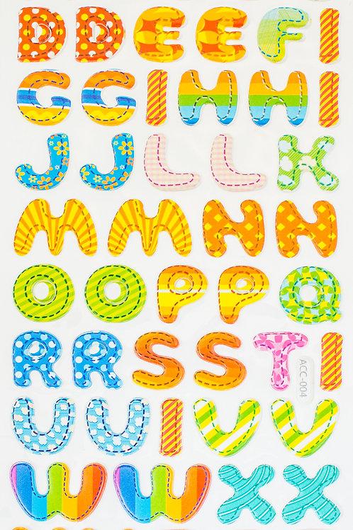 Adesivos Acolchoados Letras 20mm (3226-003)