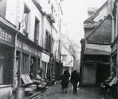 Rue Fleuriguet vers la rue de la Pomme d'Or