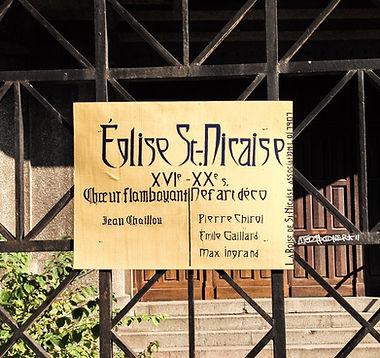 Panneau réalisé par la Boise de Saint Nicaise